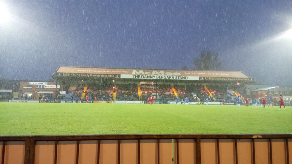 Stockport County snow