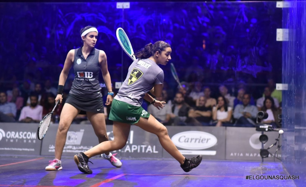 Squash coaching - Raneem and Nour El Tayeb