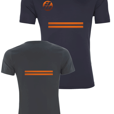 Grey and Orange Front and Back