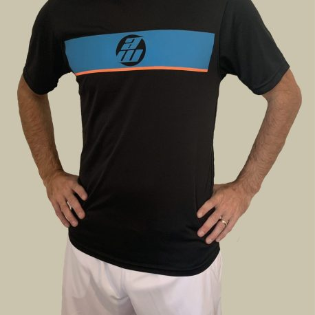 Black Panel T-Shirt with White Shorts
