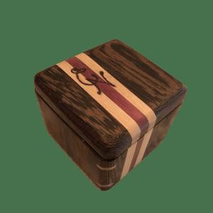 Wenge, Cherry & Purpleheart Ring Box