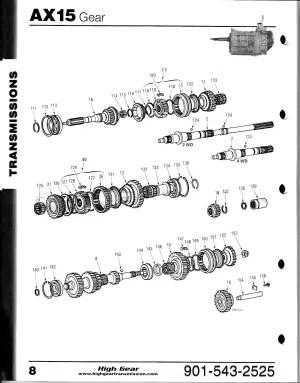 AX15 Gear Diagram