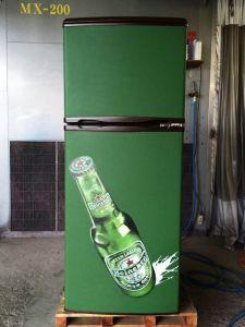 冷蔵庫黒板化チョークアート