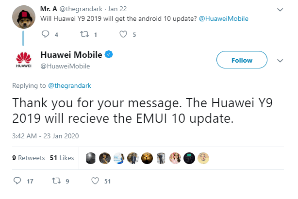 Huawei Confirms EMUI Update for Y