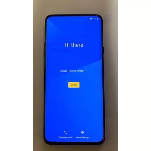 OnePlus 7 Pro GM1915 256GB Dual-Sim GSM Unlocked Android SmartPhone - Mirror Grey (Poor Costmetics, Fully Functional)