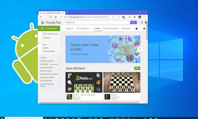 Windows peut lancer applications jeux Android