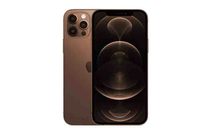 iphone pro coloris marron brown