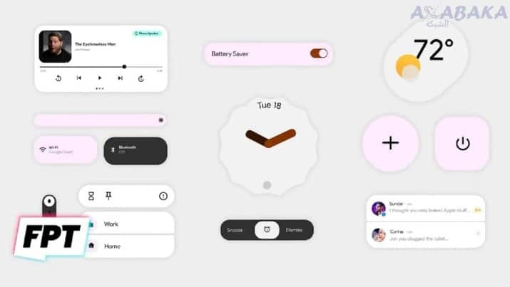 ابزارها و اعلان های Android 12