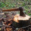 axe splitting log