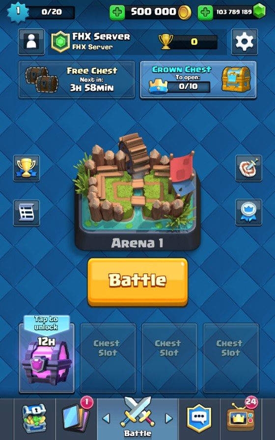 Clash Royale 2.0.1 Private Server FHX Royale S1 Mod Apk