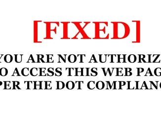 You are Not Authorized to Access The Site as per the Dot Compliance Error Fix