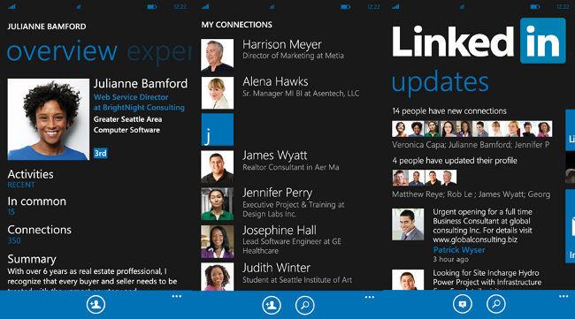 Windows Phone, Linkin for Windows Phone, Linkedin for Nokia