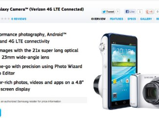 Samsung Galaxy Camera, Verizon galaxy camera update