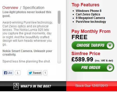 Nokia Lumia 925 Uk, Uk price nokia lumia 925, Lumia 925 price