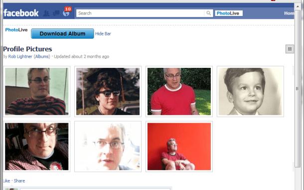 PhotoLive, Photo Live, Download facebook album, download facebook album zip file, Facebook album in zip file.