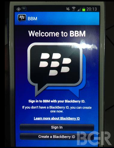 BB messenger for Android, BlackBerry for Android, BlackBerry messenger for Android, BBM for Andorid
