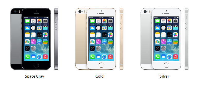 iPhone 5S, colors