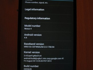 KitKat 4.4 update on nexus 4