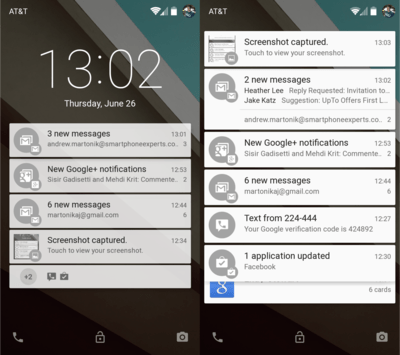 Android-L-Lockscreen-screenshots