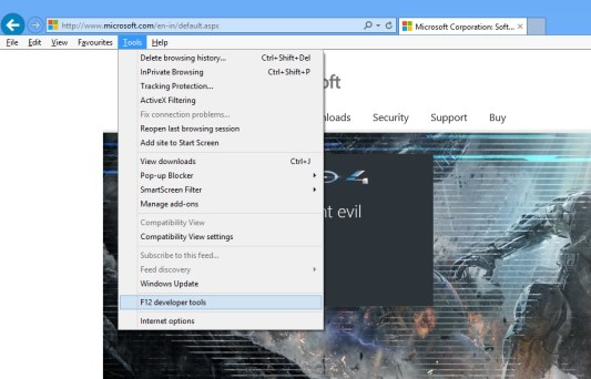 How to run internet explorer in compatibility mode
