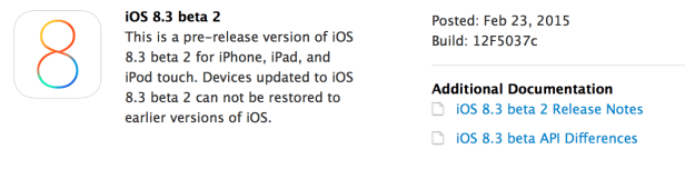 Apple releases iOS 8.3 beta 2