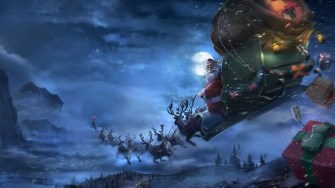 santa_claus_reindeer_sleigh_flying_gifts_christmas_68922_3840x2160