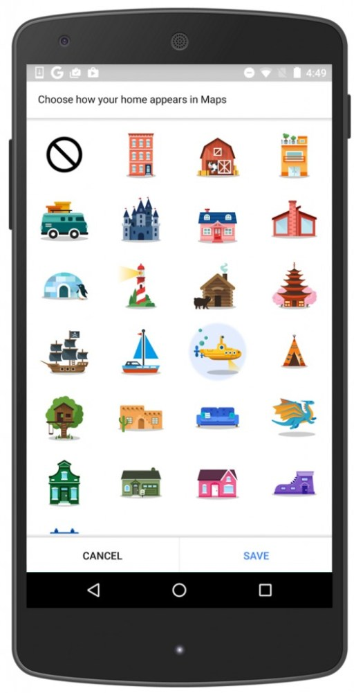 Google Maps New Icons