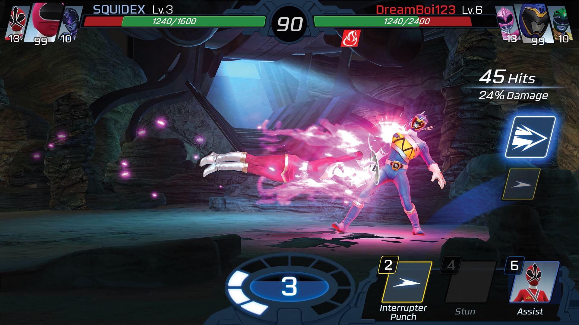 Power-Rangers-Legacy-Wars_Zeo-Pink_vs_Dino-Blue_hack_mod_apk