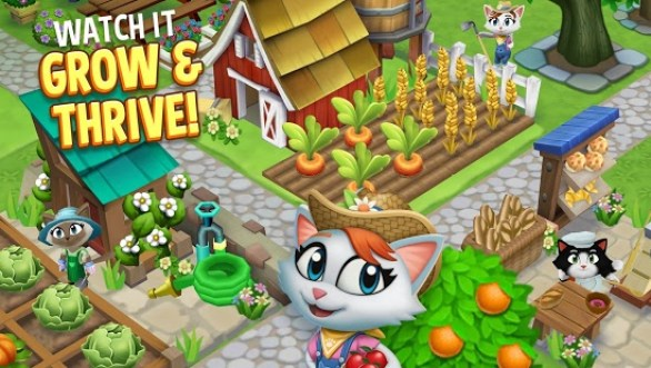 Kitty City: Help Cute Cats Build & Harvest Crops mod apk