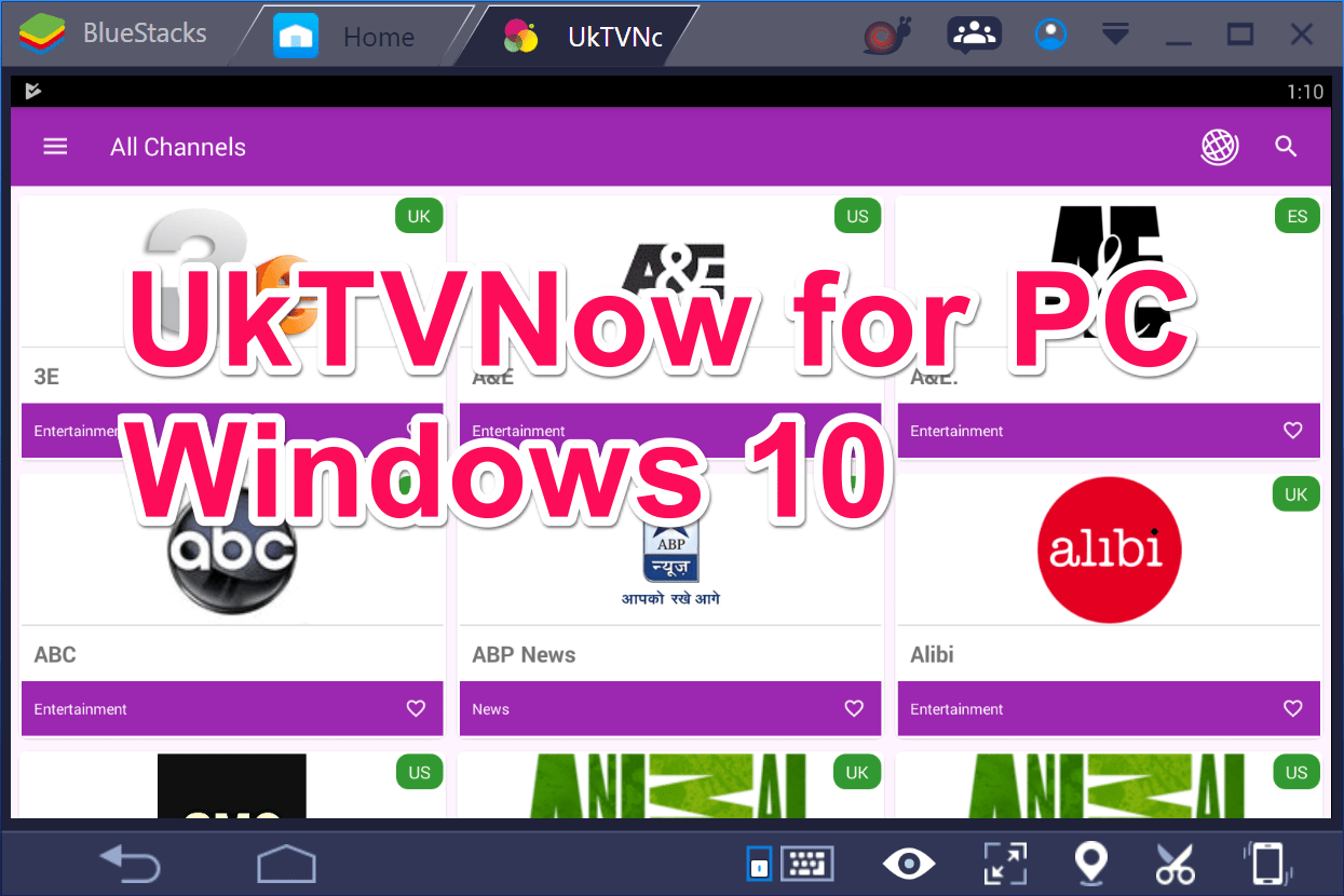Download UKTvNow app for free on Windows 10/8/7 or Mac OS X