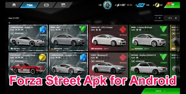 Forza Street Apk OBB Data for Android Download
