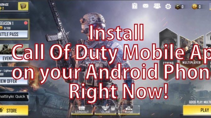 How to Install Call of Duty Mobile Apk Manually on Android