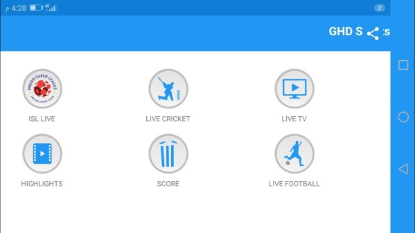 GHD Sports Apk for Cricket World Cup 2019 Sreaming