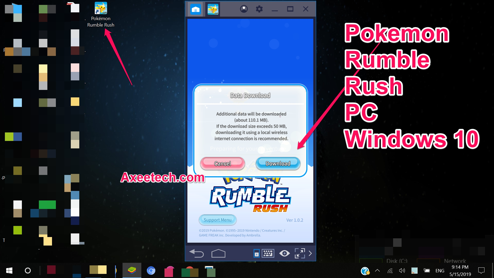 Download Pokemon Rumble Rush for PC Windows 10  | AxeeTech