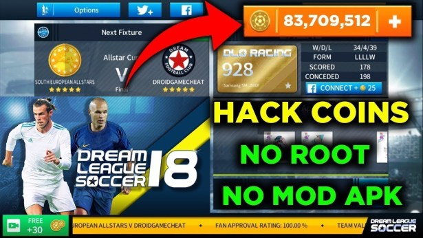 Dream League Soccer 2019 hack Fil4Net and Profile.dat hack