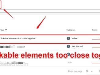 Clickable elements too close together Wordpress fix Google Search Console