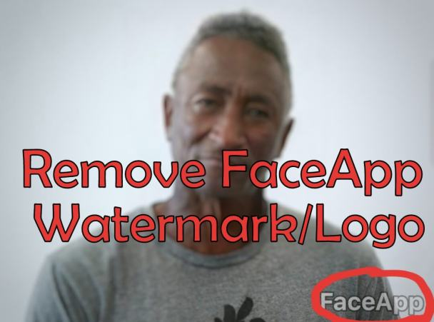 Remove FaceApp Watermark