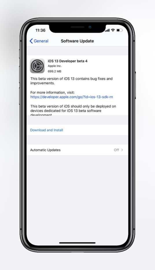 iOS 13 Beta 4 ipsw