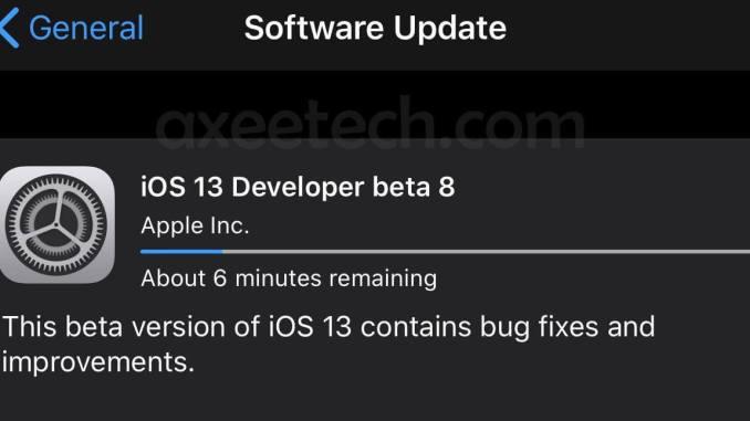 iOS 13 Beta 8 ipsw Download Link Iphone