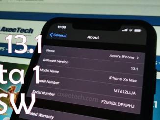 iOS 13.1 Beta 1 ipsw