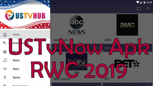 USTvNow RWC 2019 Live Streaming