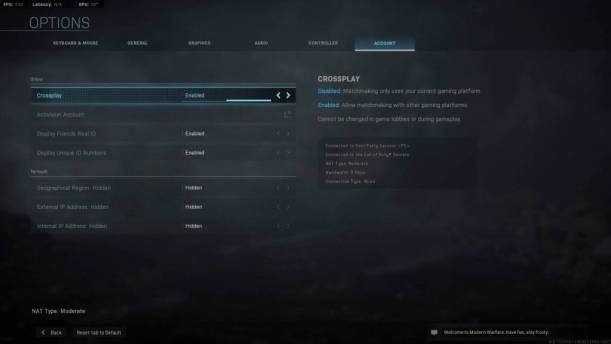 COD Modern Warfare Dev Errors Crossplay Disable Fix