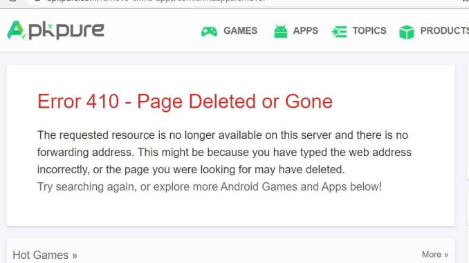Apkpure.com removes Remove China Apps Apk