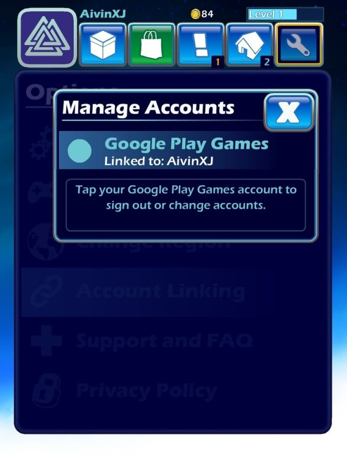 Brawlhalla Account linking with Google Play Services