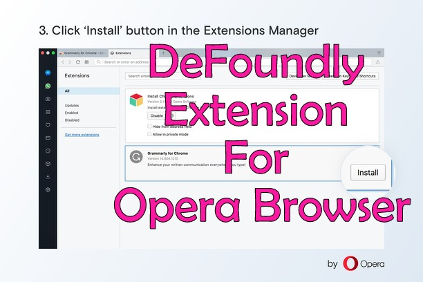 Defoundly extension