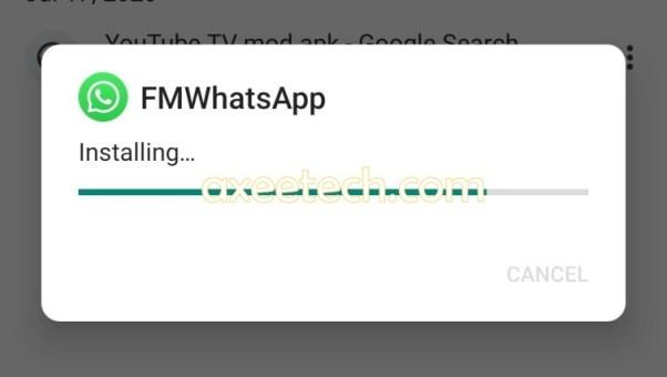 FMWhatsApp apk installation Process