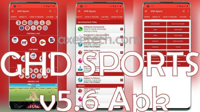 GHD Sports Apk v5.6 For Android