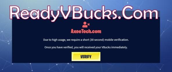 ReadyVbucks Com Verification scam