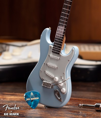 Officially Licensed Miniature Sonic Blue Fender™ Strat™ Guitar Replica