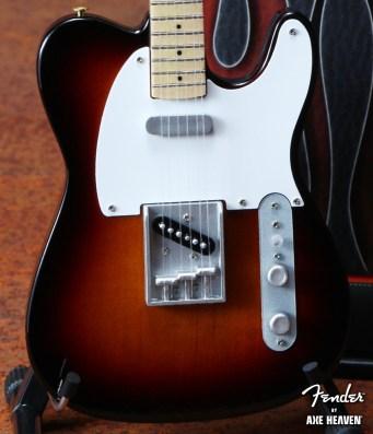 Officially Licensed Miniature Classic Sunburst Fender™ Telecaster™ Guitar Replica